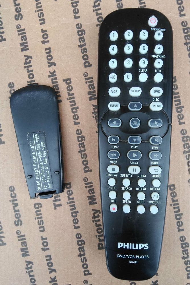 Philips NA730 Remote Control for Philips DVP3345VB/F7 DVD/VCR Player...Tested