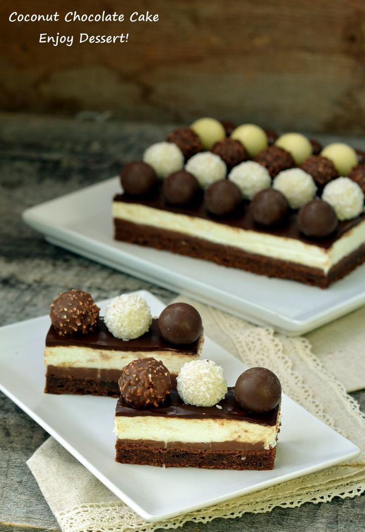 Prajitura cu cocos si ciocolata