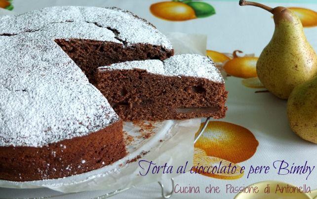 #Torta al #cioccolato e pere #Bimby una golosa e sofficissima torta casalinga da provare assolutamente... http://blog.giallozafferano.it/antonellaincucina/torta-al-cioccolato-e-pere-bimby/