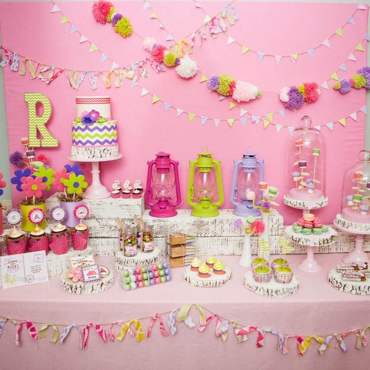 GLAM CAMPING Birthday Party Printables Collection - Glamping Party PRINTABLES - from The Bachelorette Emily Maynard's Party