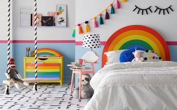 Creative Rainbow Decoration Ideas Bright Colors In Kids Bedrooms Kid Room Decor Kids Bedroom Furniture Kids Bedroom