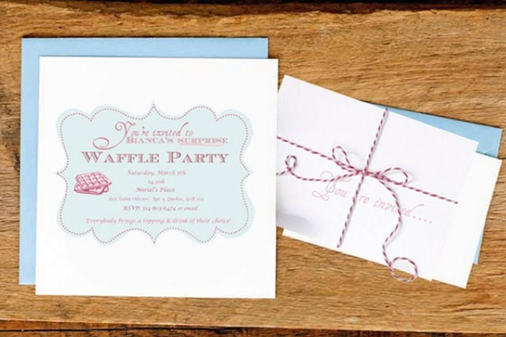 Waffle Breakfast Party {With Free Printables} — Celebrations at Home