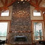 Astonishing Natural Stone Fireplace Colors Fascinating Stacked Stone Fireplace Ideas Pleasant Features Blend : Attractive Stone Fireplace In Large Living Room Terrific Fireplace Design Appealing Prefab Fireplace Mediterranean Style