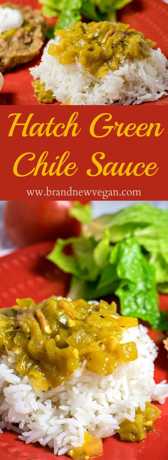 An authentic Hatch Green Chile Sauce recipe, perfect for Tacos, Burritos, Enchiladas, or even drizzled on baked potatoes! Full of Vitamin C!