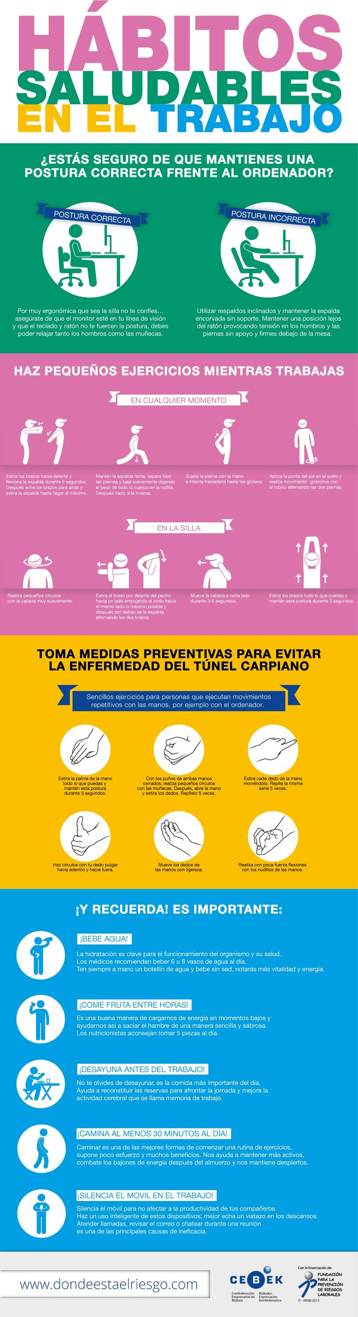 #Infografia Hábitos saludables en el trabajo
