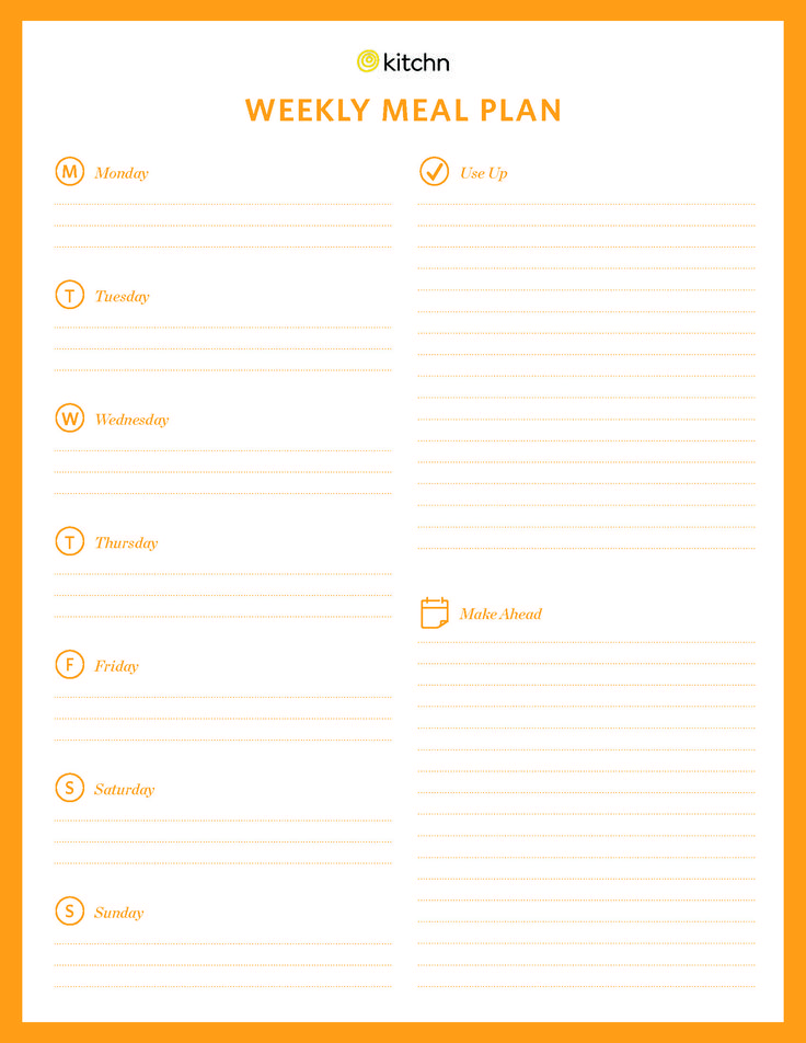 Best 25+ Menu planning templates ideas on Pinterest Monthly meal - free menu planner template