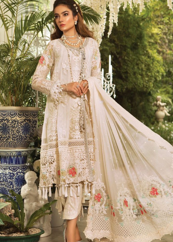 339ead0366 Maria B Mbroidered Chiffon Eid Collection 2019 | Mbroidered Eid Edition 2019  | Mbroidered Eid Collection