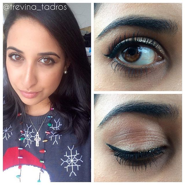 Some subtle holiday makeup for Santacon NYC  #letsdothis #santacon #nyc #glitterliner #holidaymakeup #beauty #makeup #bblog #urbandecay #anastasiabeverlyhills #makeupforever #nyx #tarte #maybelline #lauramercier #laurageller #physiciansformula #mac