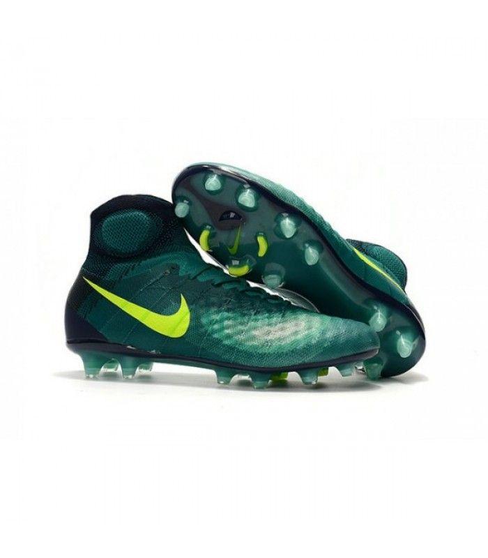 Acheter Nouvelles - Chaussures Foot Nike Magista Obra II FG Turquoise Rio Volt Obsidienne Jade pas cher en ligne 128,00€ sur http://cramponsdefootdiscount.com