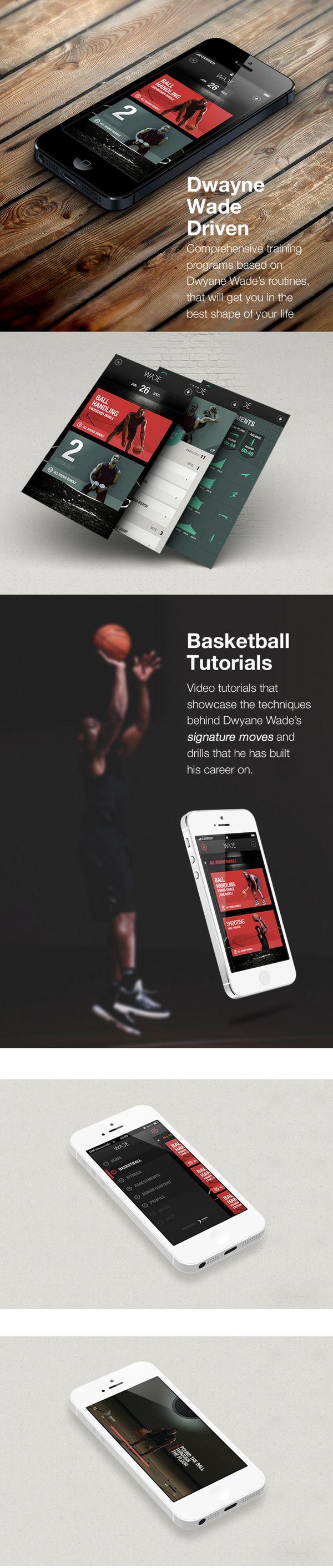 basketball app #sport #flat #ui