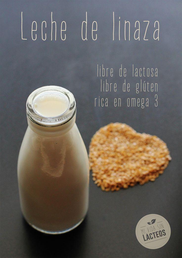 La leche de linaza. Una nueva opción en leches vegetales. Libre de gluten.