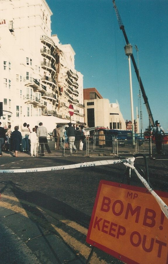 On 12 October 1984, the IRA blew up the Grand Hotel where the conservative leadership was staying during that year's conference. We watched live TV footage of Norman Tebbit being carried out, feet first, from the rubble. I took this photograph the next day.