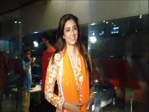 Tabu at the special screening of the movie HAIDER at Juhu PVR.