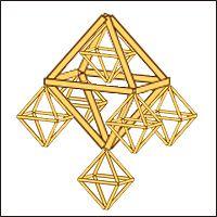 Valmistus - Himmeli == 2 methods of stringing himmeli units
