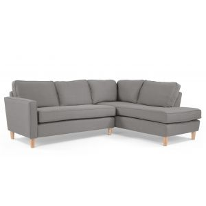 Lugano Right Hand Facing Corner Sofa Group in city grey | made.com