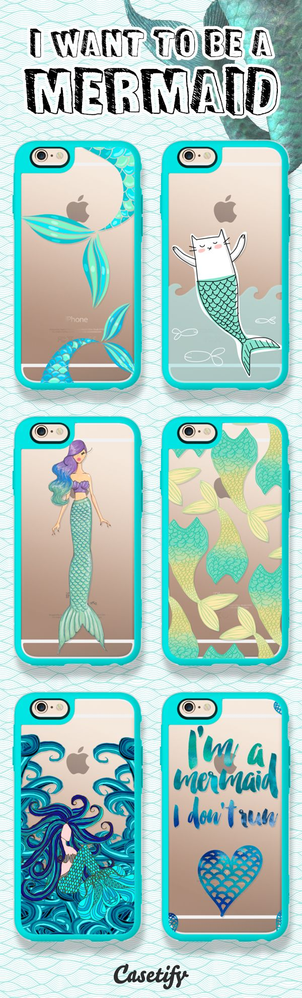 Every little girl dreams of being a mermaid. Tap this link to shop the mermaid iphone cases: https://www.casetify.com/artworks/1mf1sJpm60 | @casetify