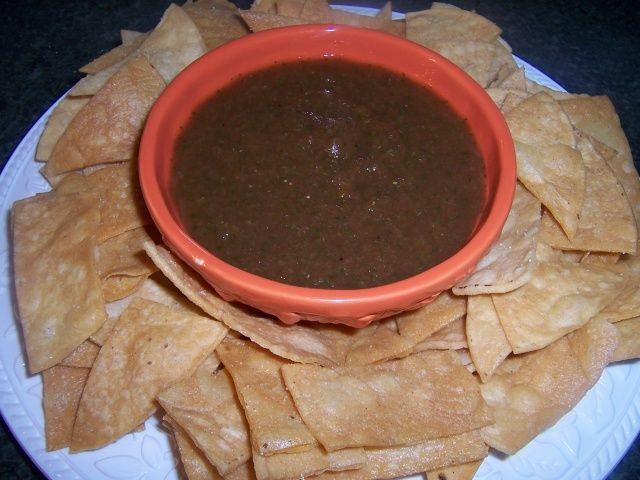 Mexican Restaurant Style Chips AndSalsa