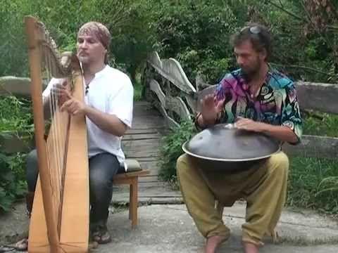 Ханг и кельтская арфа - душевная музыка! - YouTube