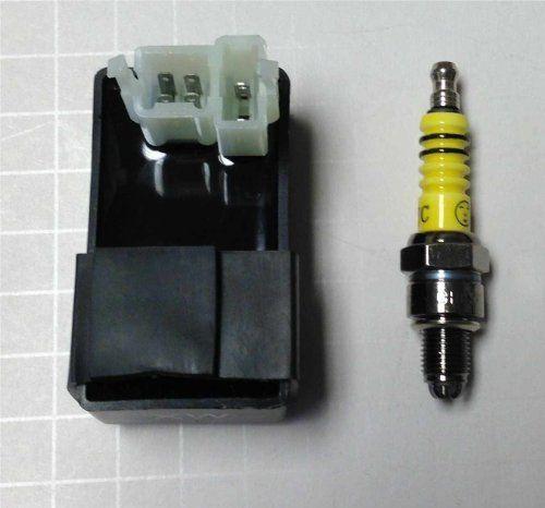 6 PINS CDI BOX UNIT + Bonus: HIGH PERFORMANCE 3 ELECTRODE SPARK PLUG for 50cc, 70cc 90cc, 100cc, 110cc, 125cc, 150cc, 200cc, 250cc China made ATV, DIRT BIKE, GO-KART, POCKET BIKE, SCOOTER by MRS. $12.85. 6 PINS CDI BOX UNIT + Bonus: HIGH PERFORMANCE 3 ELECTRODE SPARK PLUG for 50cc, 70cc 90cc, 100cc, 110cc, 125cc, 150cc, 200cc, 250cc China made ATV, DIRT BIKE, GO-KART, POCKET BIKE, SCOOTER
