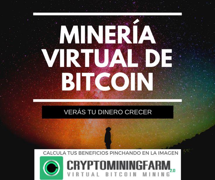 ¿Conoces la minería virtual de cryptomonedas en la nube? Es una manera muy fácil de ver crecer tu dinero. Entra en este enlace para más información:    https://www.cryptomining.farm/signup/?referrer=5A6D39235C6F0  Ganar dinero en internet - bitcoin - ethereum - mineria - criptodivisas -