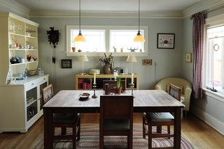 Into the Dining Room - rustic - dining room - portland - by Julie Smith