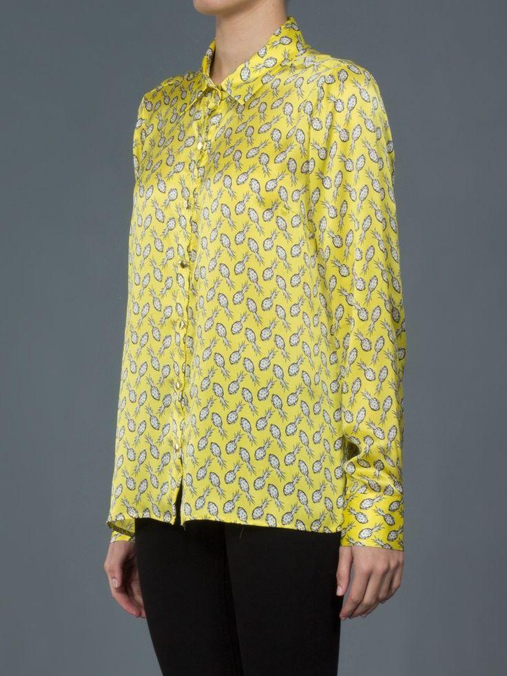 Mob Camisa amarela estampada.