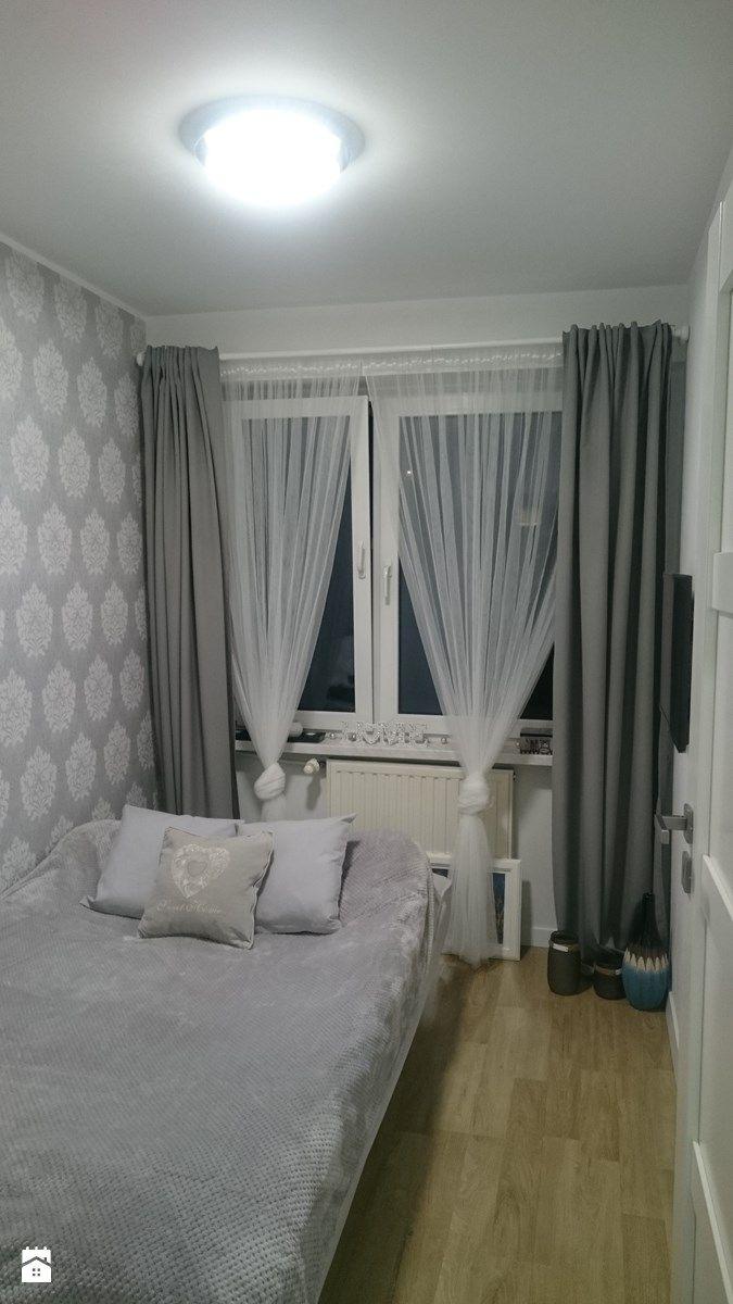 Metamorfoza trzypokojowego mieszkania w bloku z wielkiej płyty - Mała sypialnia małżeńska, styl nowoczesny - zdjęcie od Frycka82