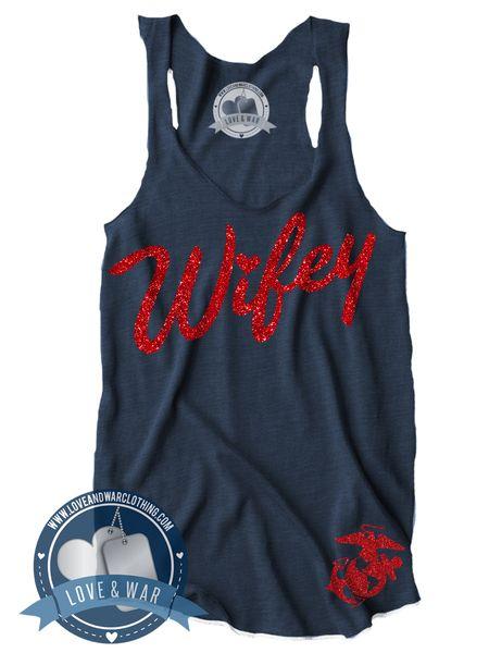 Wifey USMC Top - LOVEANDWARCLOTHING