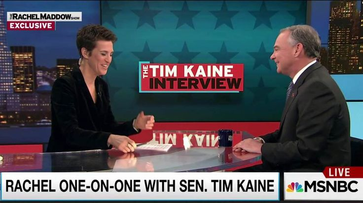 Senator Tim Kaine, Democratic vice presidential candidate, talks with Rachel Maddow about the possibility of having a female boss for the first time, and the role of strong women in his life.