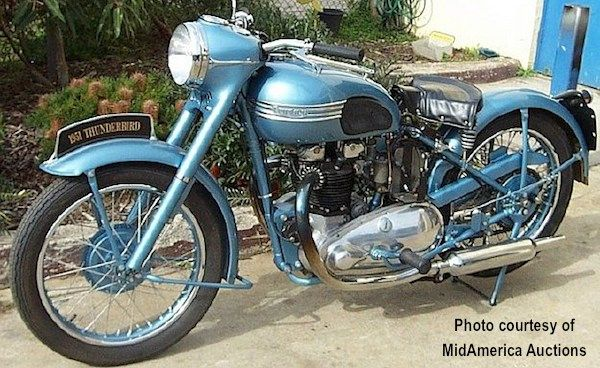 1953 Triumph Thunderbird/- would be a dream to get a bike and customize it to look like this...