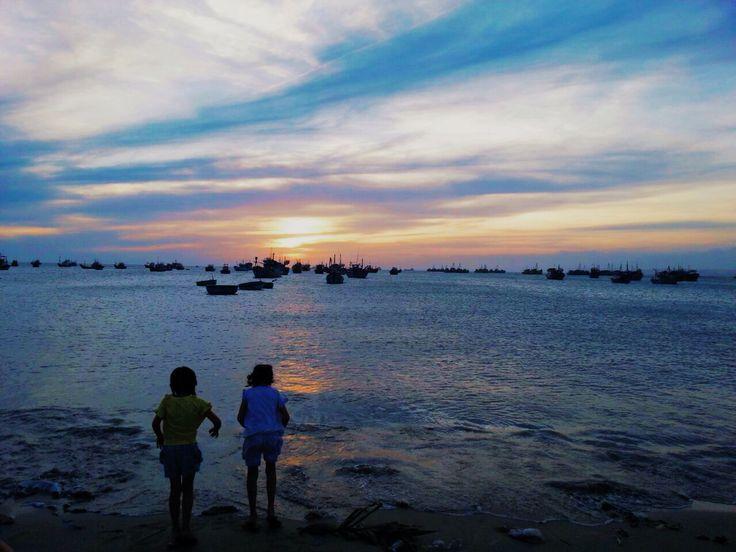Vietnam. Mui Ne. Sunset.