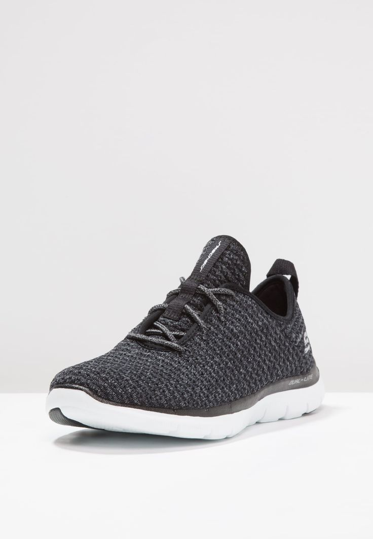 Skechers Sport FLEX APPEAL 2.0 - Matalavartiset tennarit - black/gray/white - Zalando.fi