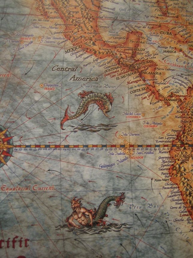 Sea monsters on world maps 49 best
