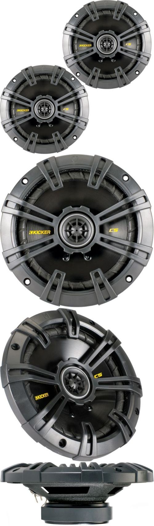 Car Speakers and Speaker Systems: Kicker 40Cs54 Car Audio Stereo 5.25 2-Way Cs Series Speakers Set Pair 5-1 /4 BUY IT NOW ONLY: $49.95