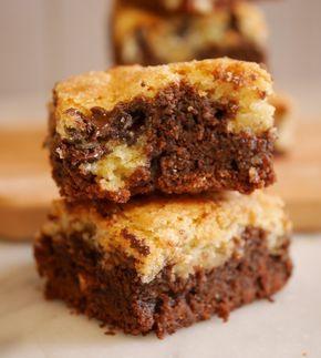 Aujourd'hui je vous propose une variante de ma recette de browkies … que vous appréciez particulièrement ! Dans la première version je vous proposais un brownie format cookie. Ici il s'agit d'un brownkie allégé, qui est une « superposition » d'une base de brownie et d'une « garniture » cookie. ( peut être que …