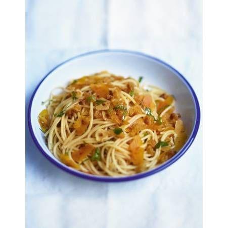 Spaghettis a la boutargue