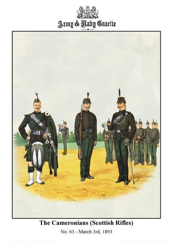 British; The Cameronians(Scottish Rifles), c.1890 by R.Simkin