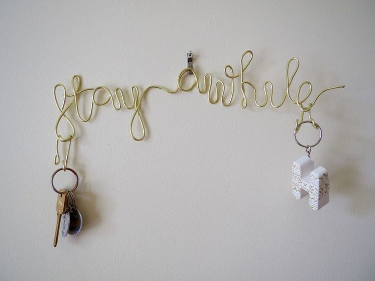 Simple Stay Awhile - Wire Key Holder DIY