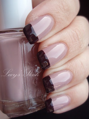 fall manicure with Essie Lady Like and Carry On