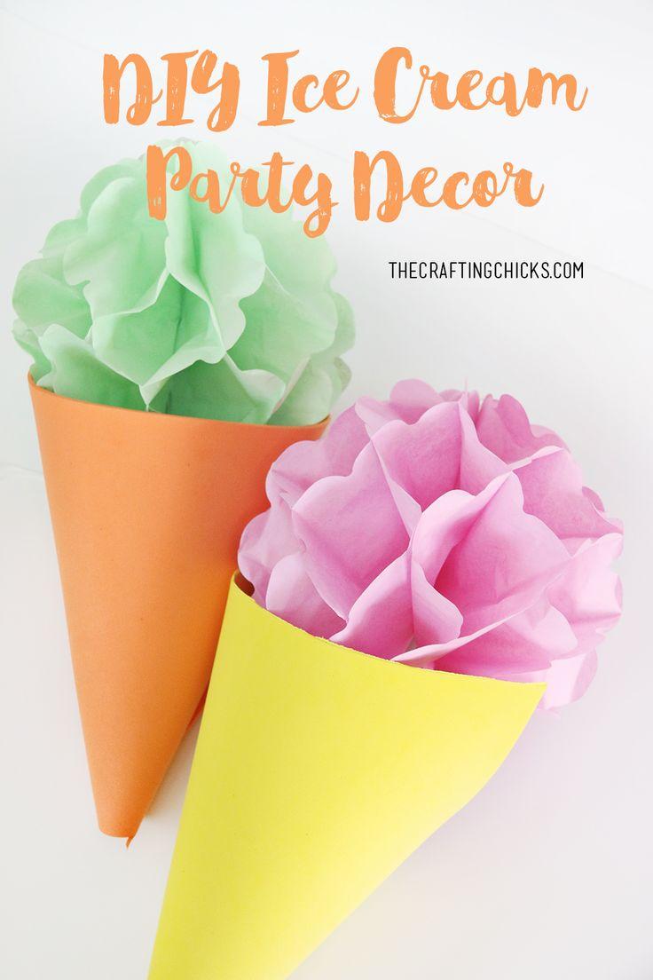 DIY Ice Cream Party Decor for a fun Ice Cream Party!