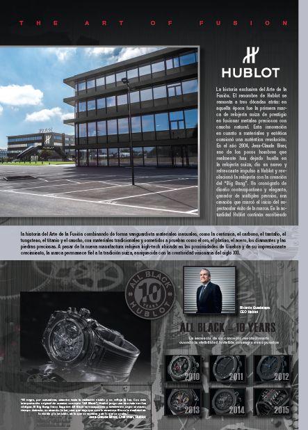 #advertorial #layoutdesign #hublot #colombia #luxurycatalig
