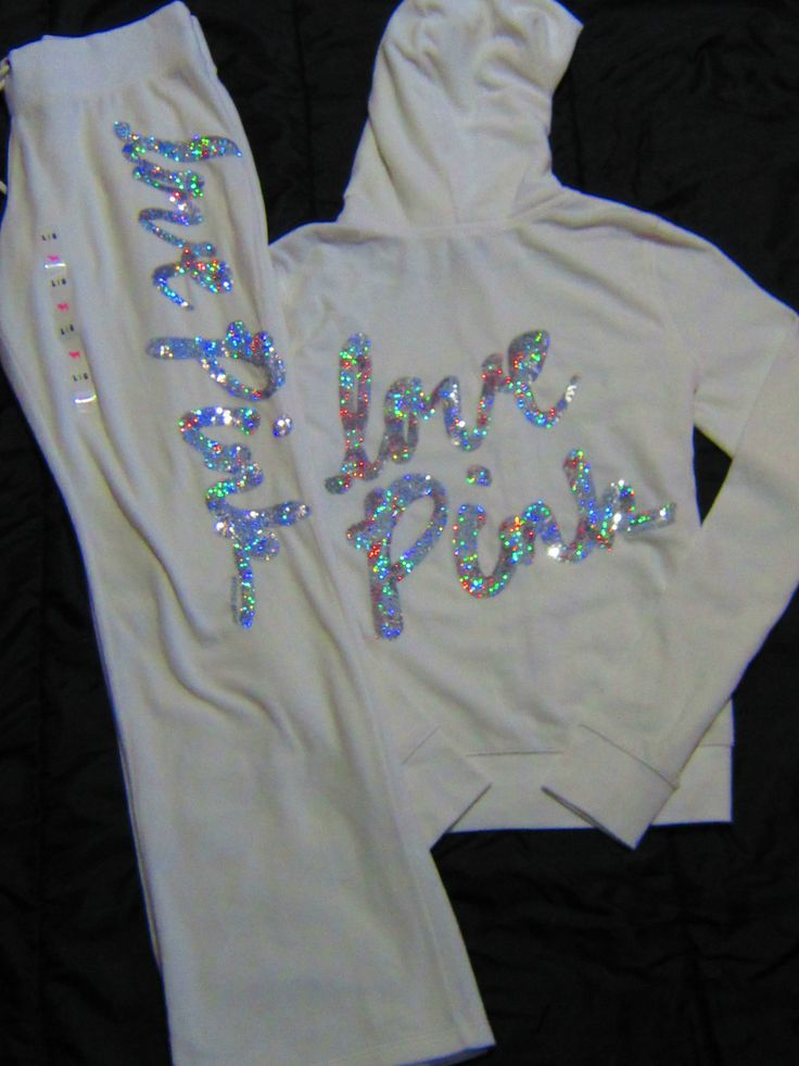 Victoria's Secret Hoodie & Boyfriend Pants set