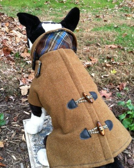 Large Dog Wool Army Blanket Pea Coat for dogs by CustomDogJacket