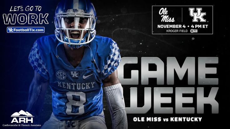 It's Ole Miss game week! Let's pack Kroger Field on Saturday vs. the Rebels! Tickets are available on ukfootballtix.com. #GoToWork