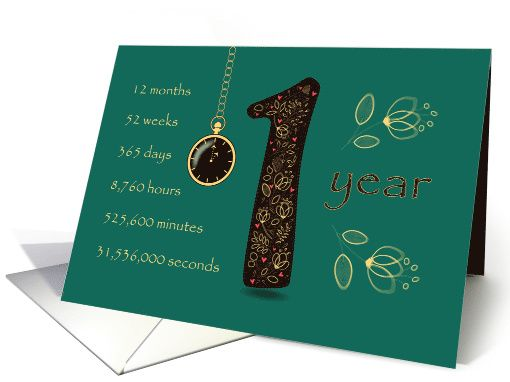 1st Cancer Free Anniversary. Congratulations. Time counting card