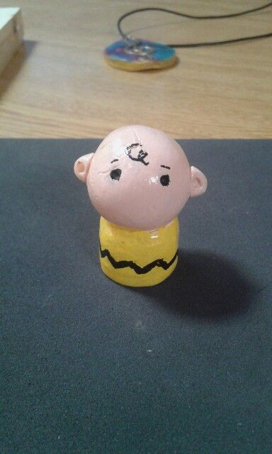 Charlie Brown Totem - Cold porcelain clay
