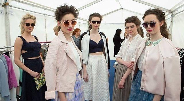 Ruffled ponytails @Mairead Penman  fashion event #redkenobsessed powdergrip pureforce ! #styleclub
