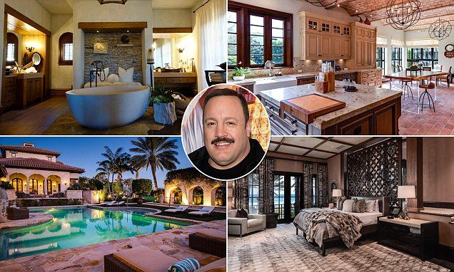 The enormous mansion in Delray Beach, Palm Beach County, Florida, boasts eight bedrooms, a saltwater pool, outdoor grill area  and 'Mediterranean Revival' interior.