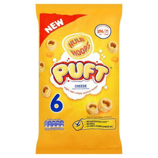 Hula Hoops Puft Cheese 6X15g