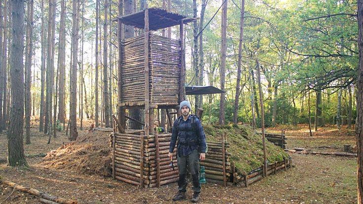Bushcraft Camp Update 12 - Wood Roof Kitchen, Overnight Camp & Perimeter...